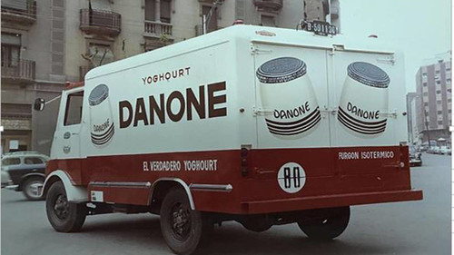 Camió Ebro C Danone caixa refirgerada
