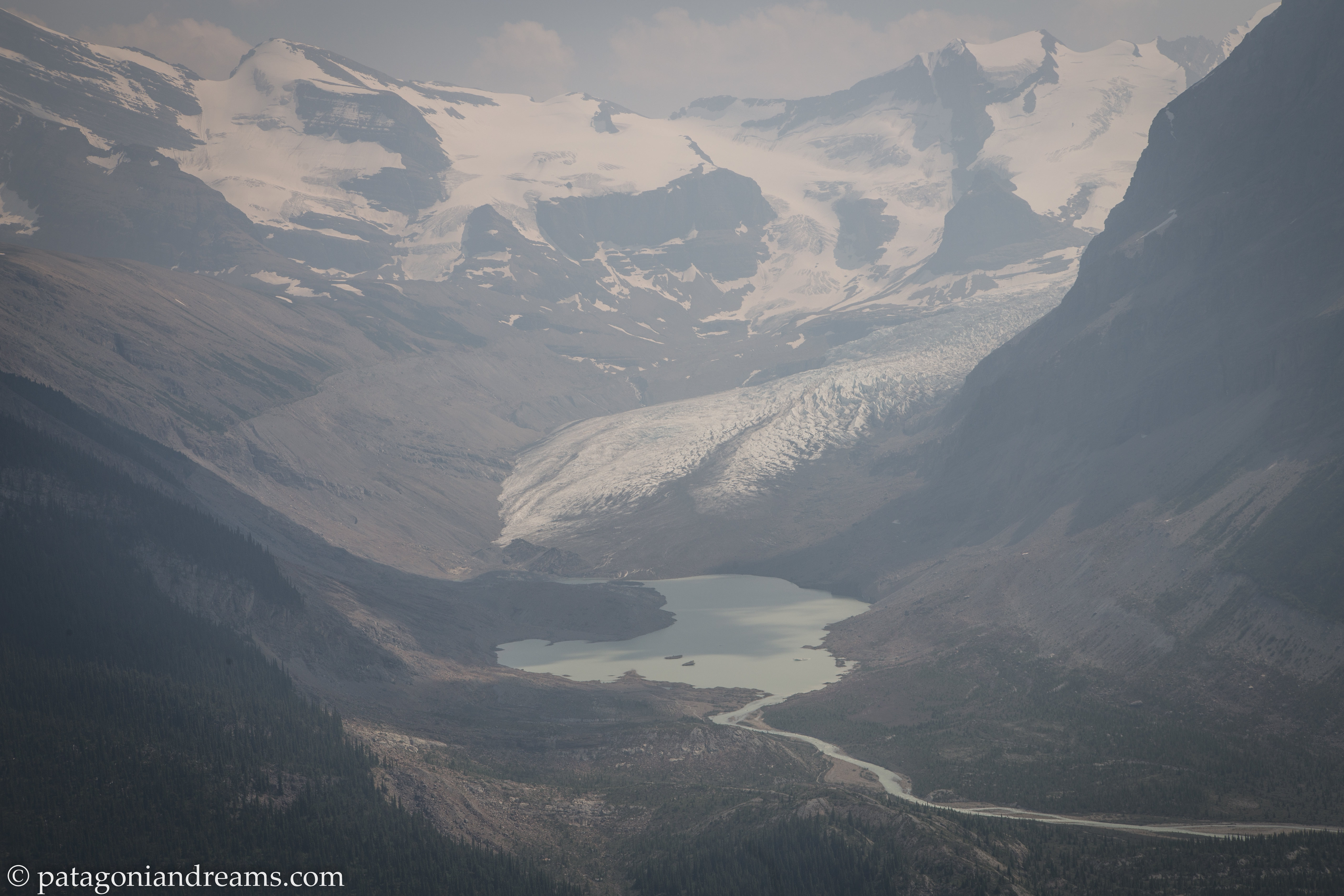 Robson Glacier, spilling off from the northeast flank of Mount Robson!