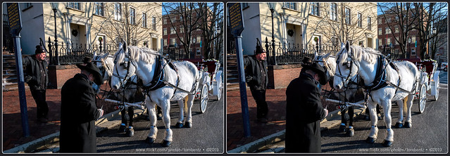 Christmas Carriage with White Horses 2 (Stereo)