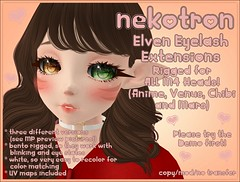 [Nekotron] Rigged Elven Eyelash Extension (ALL M4 HEADS)