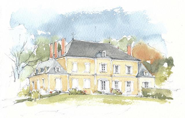 France, Nièvre, Manoir de Curty