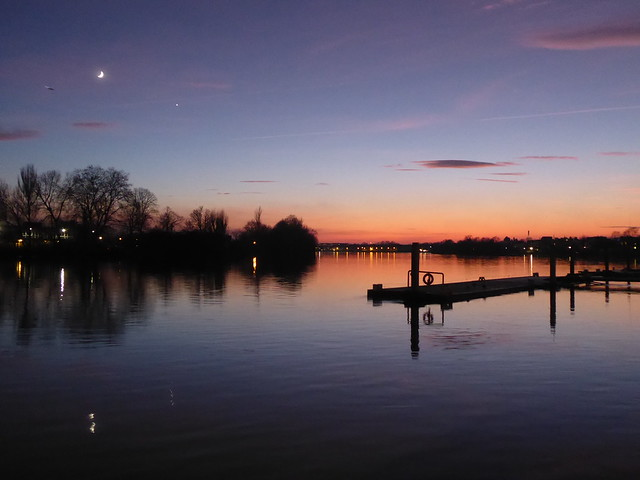 Sunset Over the River Thames, Hammersmith, London