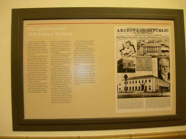 US Federal Building Controversy Plaque