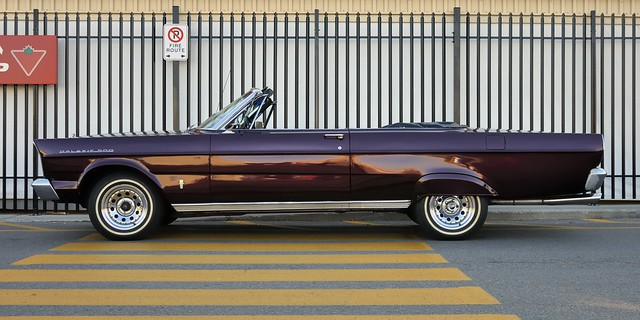 Ford Galaxie 500 convertible, c1967 - Queensway, Toronto.
