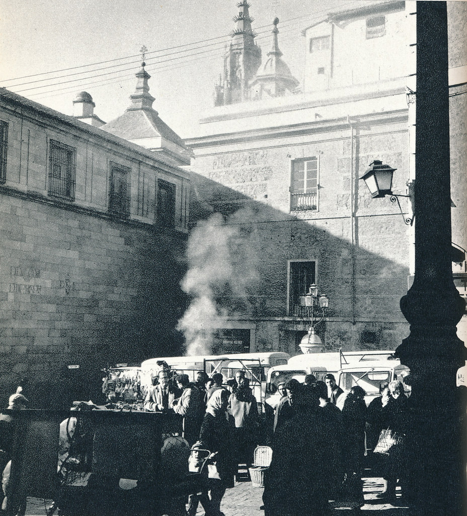 Plaza Mayor de Toledo hacia 1967 por Marc Flament