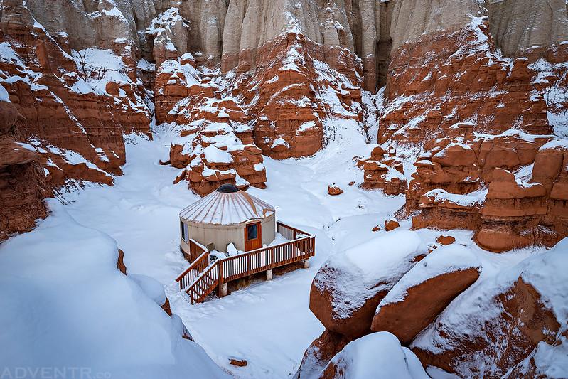Yurt After A Snowstorm