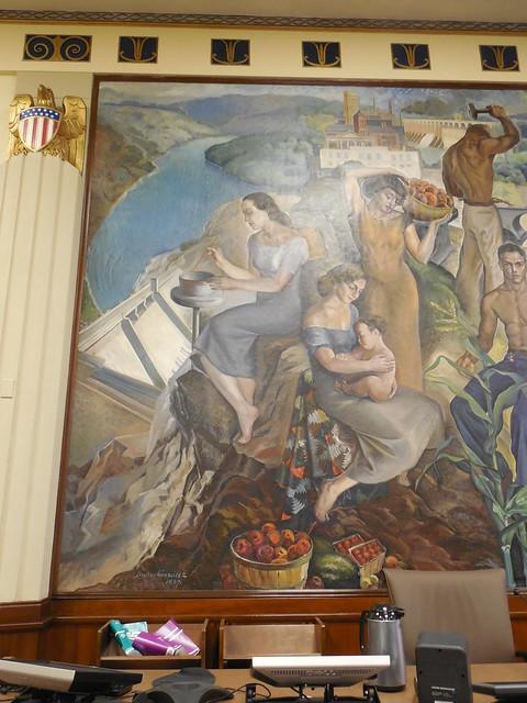 Huntsville US Courthouse Mural Detail