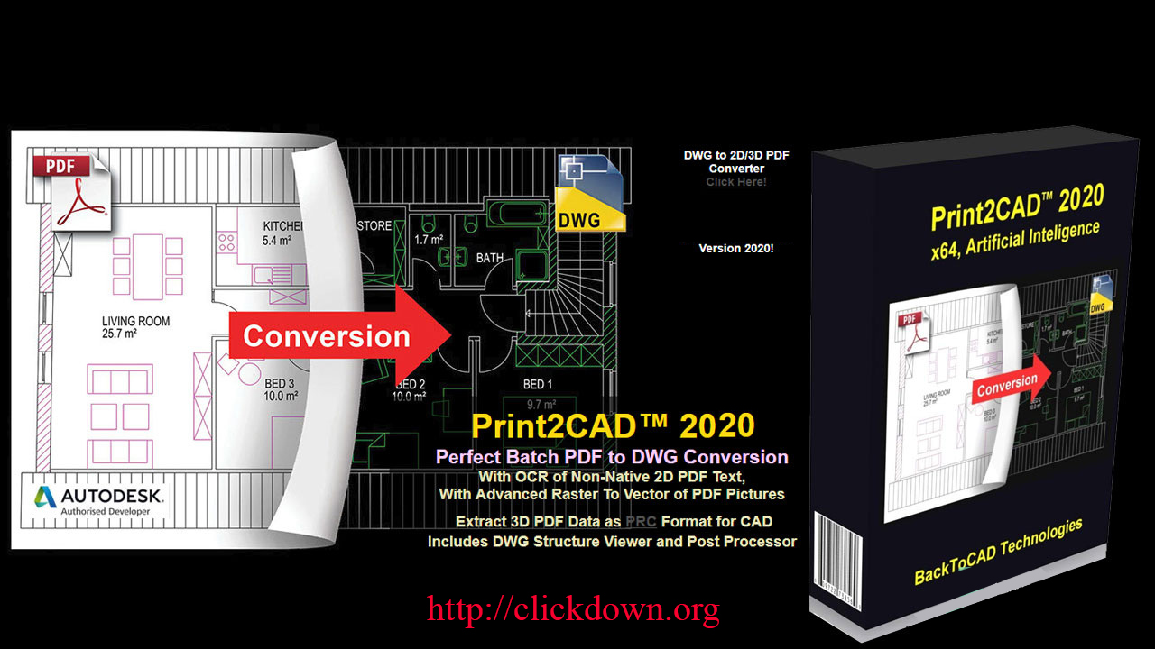 Working with BackToCAD Print2CAD 2020 full license