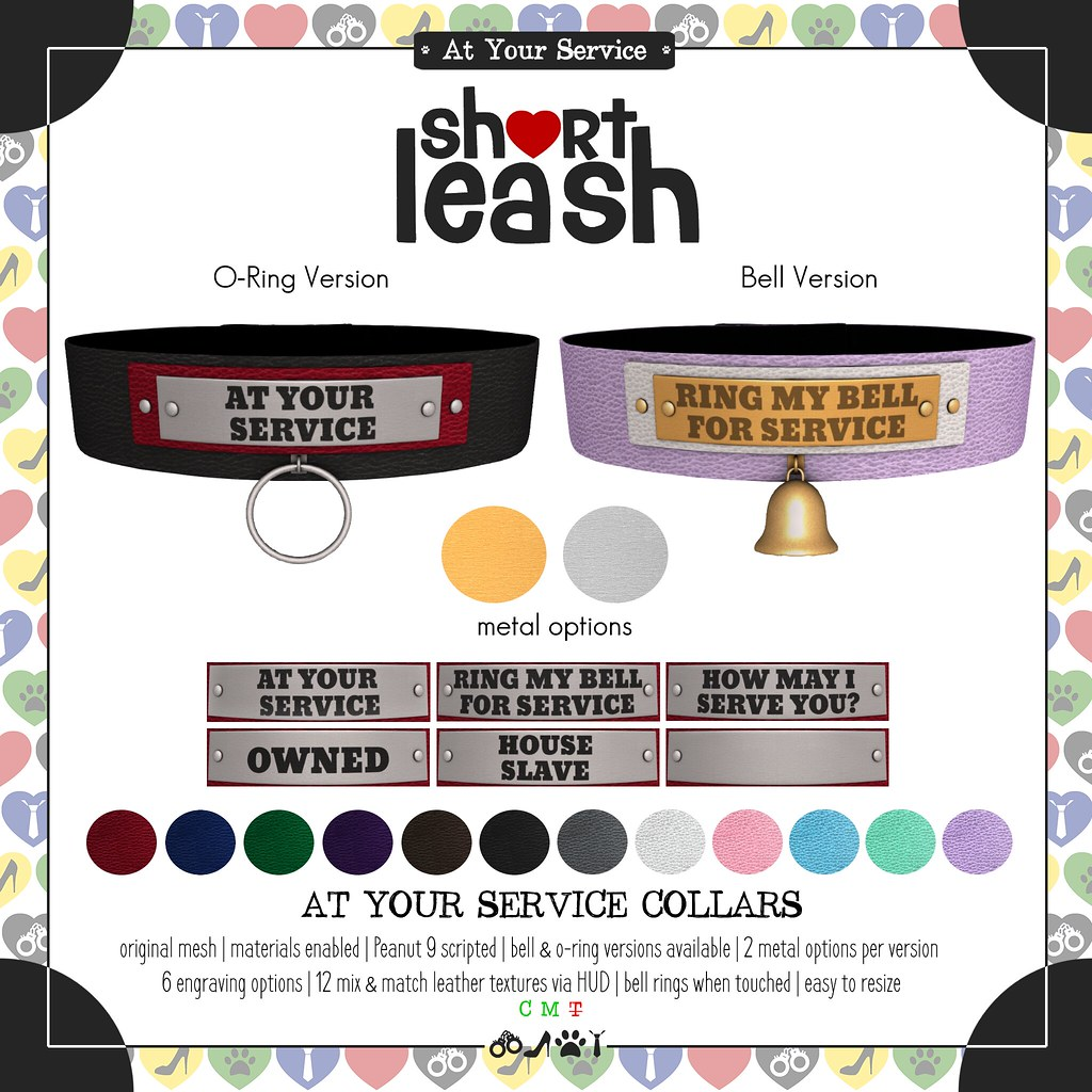 .:Short Leash:. At Your Service Collars