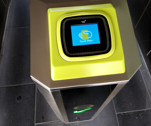 Myki reader on Christmas Day