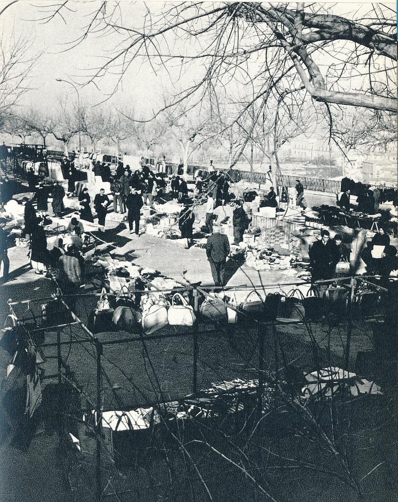 Mercadillo del Martes en el Miradero en Toledo hacia 1967 por Marc Flament