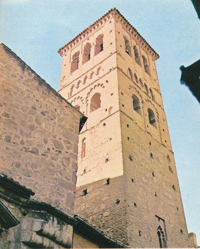 Torre de Santo Tomé en Toledo hacia 1967 por Marc Flament