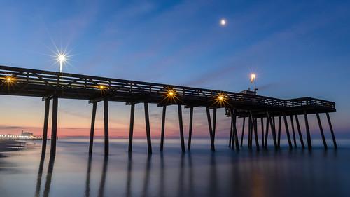 oceancity oceancitynj newjersey jerseyshore beach sunrise dawn pier longexposure