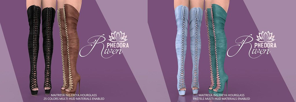"Phedora for Kinky Event ~ ""Riven"" Boots ♥"