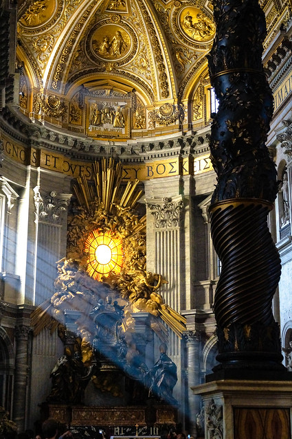 Sunrays in St. Peter's Bascilica