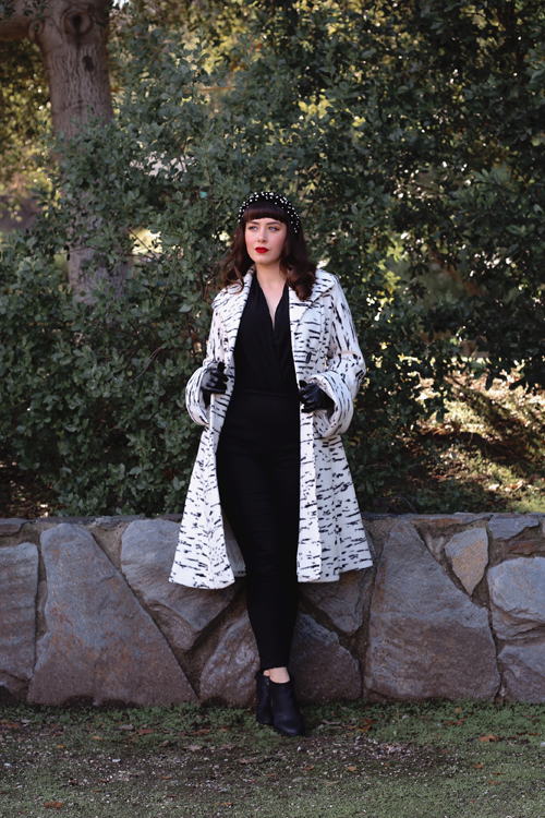 Vixen by Micheline Pitt Miss Kitty Coat in Cream