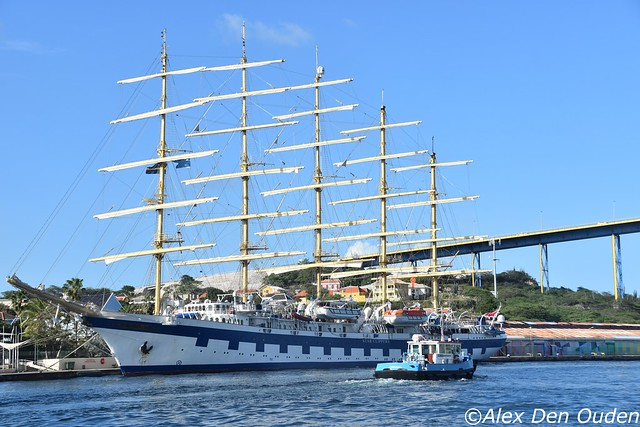 Royal Clipper, IMO 871-12178, 5 masted steel hulled clipper, 5000 ton. Sailing as a cruiseship, operated by Star Cliipper Sweden . Built in 2000 at Gdansk Shipyard in Poland