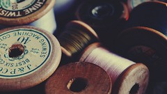 Vintage cotton reels... reminds me of childhood.