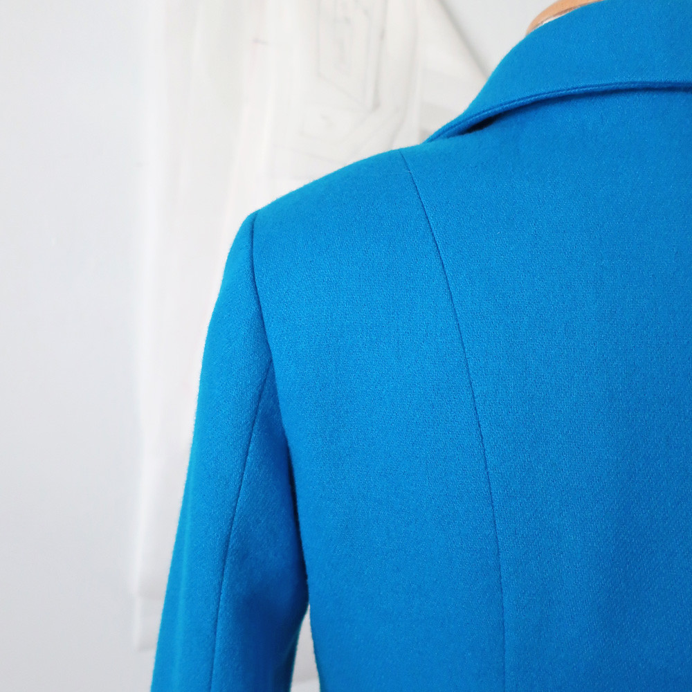 blue jacket sleeve back