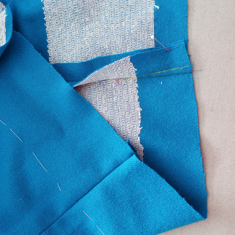 blue jacket hem interfacing