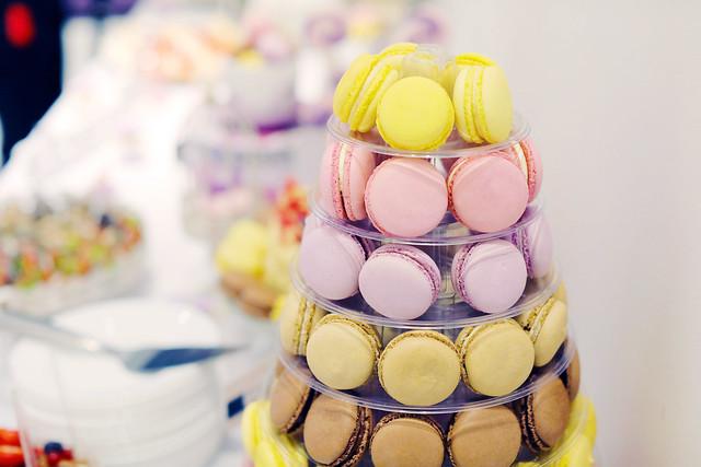 French macaroons, cake bar