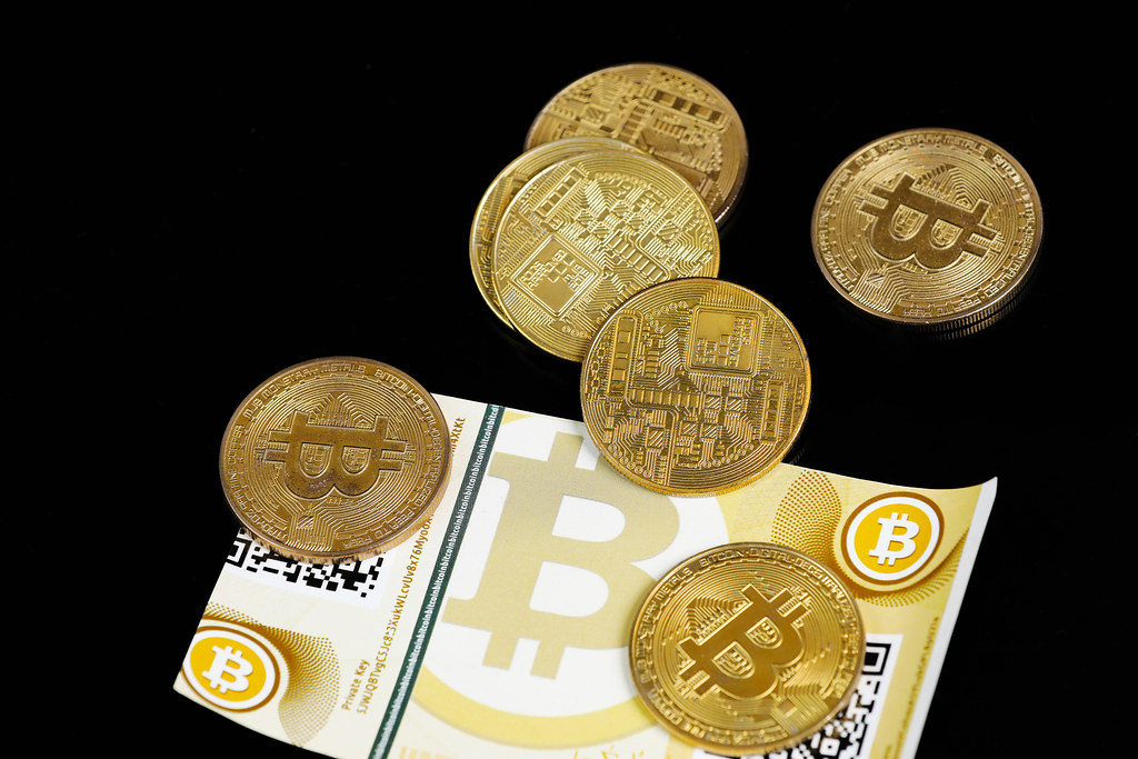 Virtual money, Bitcoin, coins and banknotes | ✅ Marco Verch … | Flickr