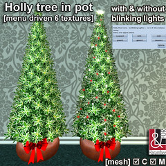 Holly tree in pot (textures changer)