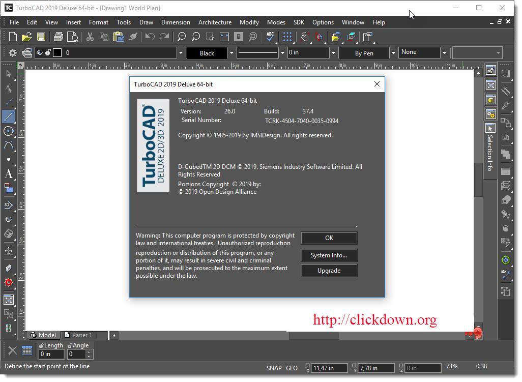 Working with TurboCAD Platinum 2019 v26.0 full license