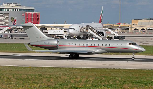 9H-VJL LMML 28-12-2019 VistaJet Bombardier BD-700-1A10 Global 6000 CN 9626