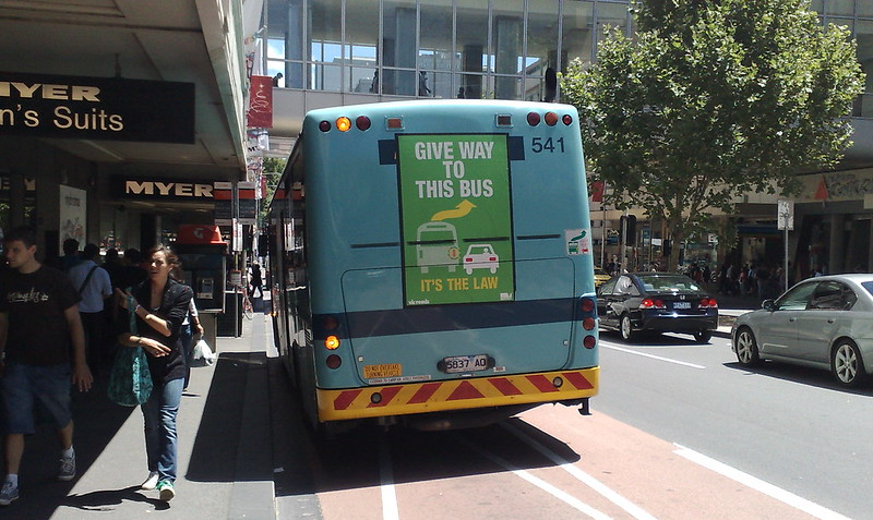 Bus promoting give way law (December 2009)