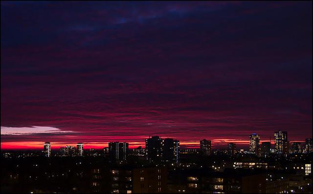 Hoogvliet-Rotterdam at sunset