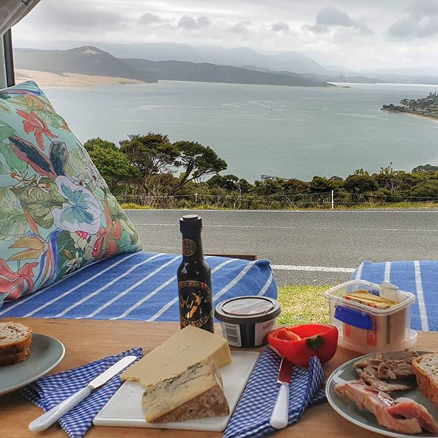Lunch with a view! #atthetop #roadtrip #campervanlife #summerholidays #exploringnz