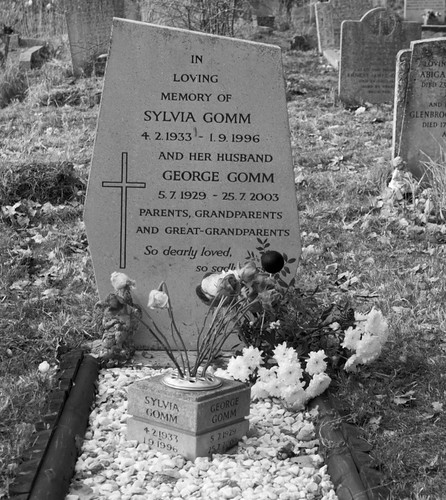 The grave of Syliva and George Gomm