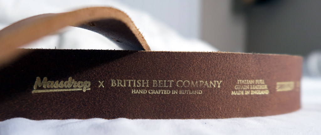 Italian full grain leather belt by Massdrop × British Belt Company