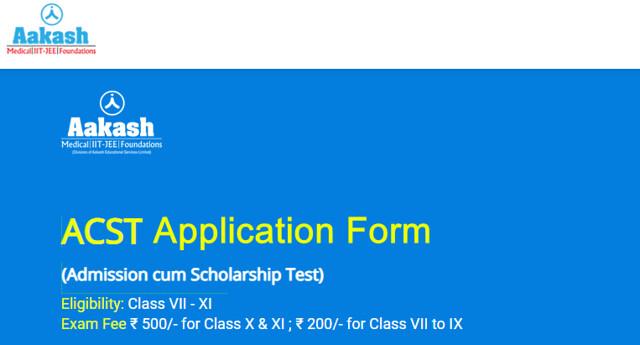 aakash acst registration form