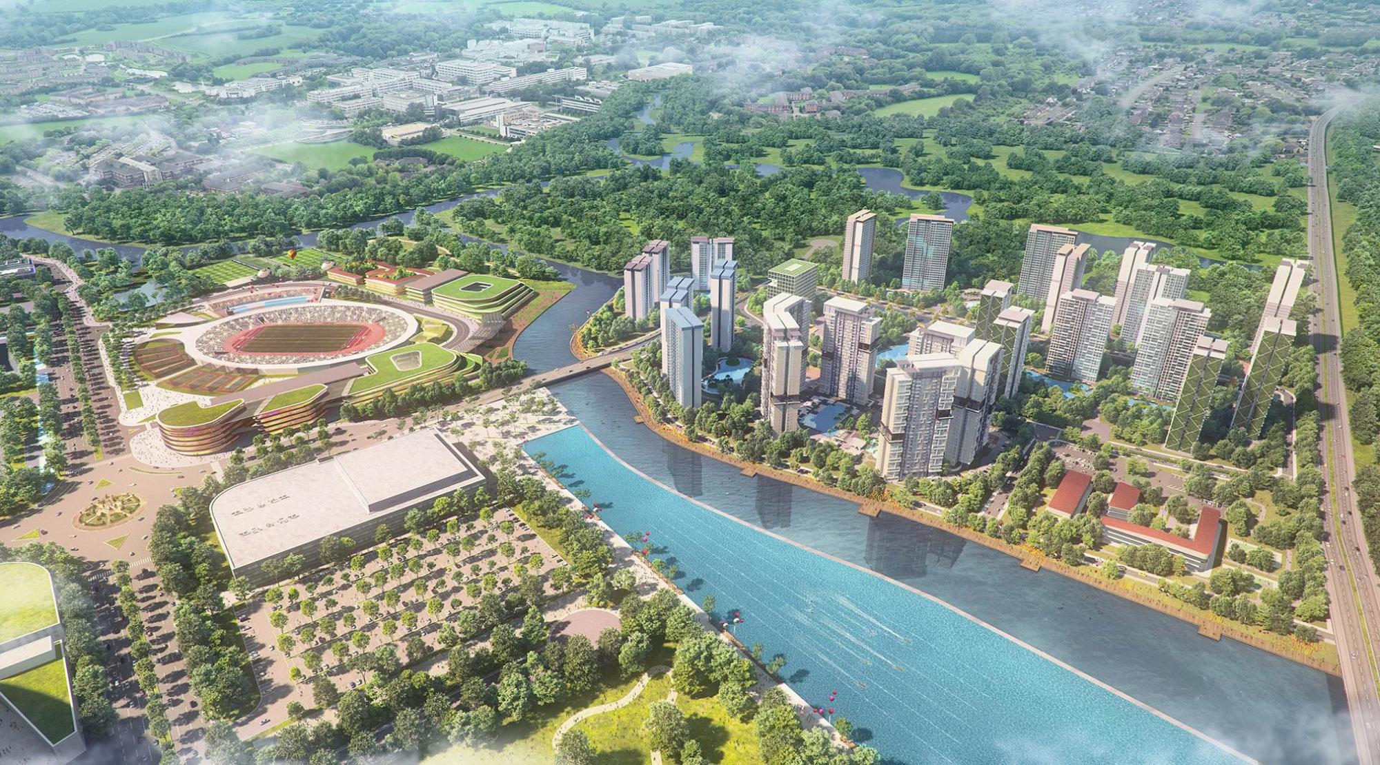 Phối cảnh dự án khu đô thị SaiGon Sport City quận 2.