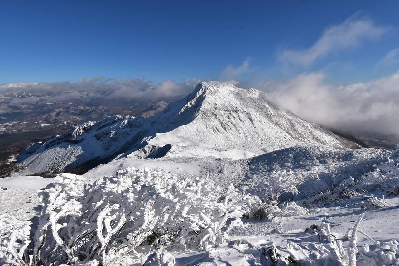 雪の櫛ヶ峰(磐梯山登山)