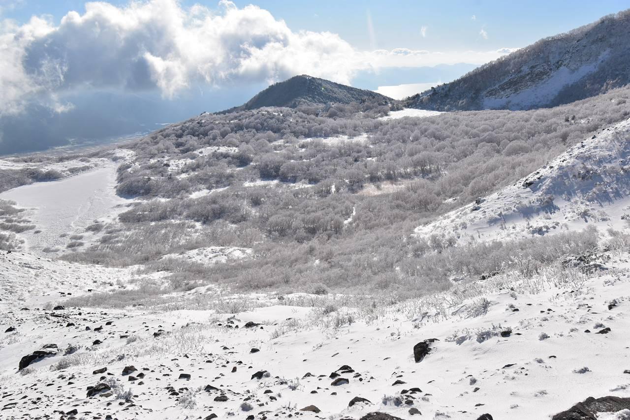 磐梯山 沼ノ平の樹氷風景