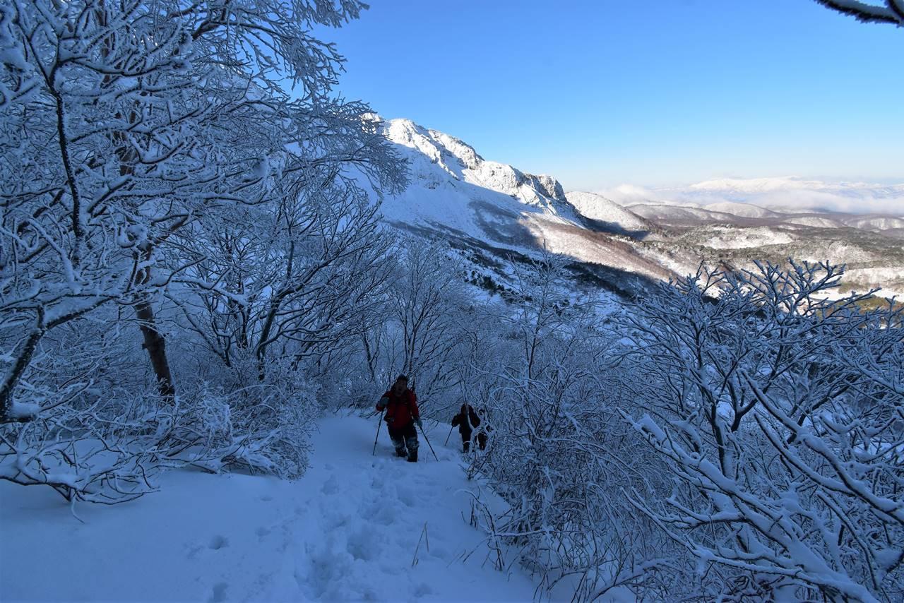 磐梯山 雪山登山