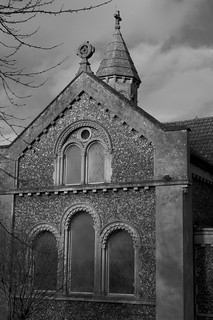South profile of the church