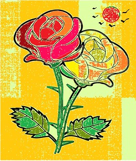 rose encrypted painting!