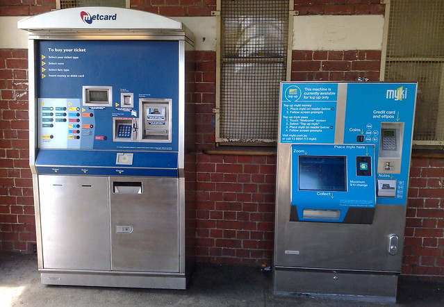Metcard and Myki machines (December 2009)
