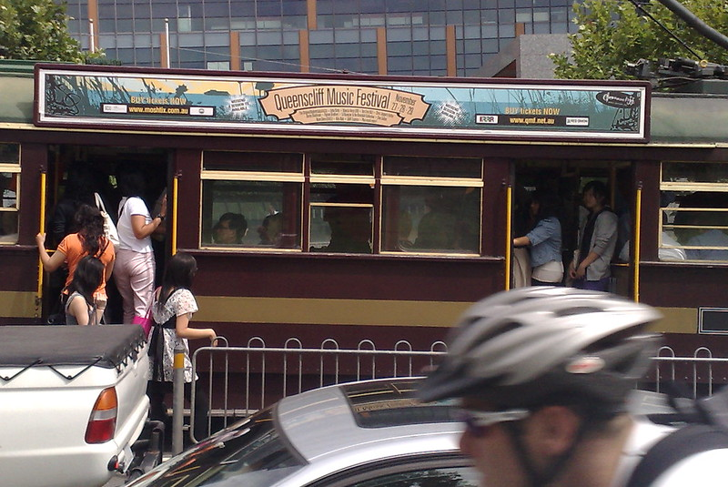 Packed City Circle tram (December 2009)
