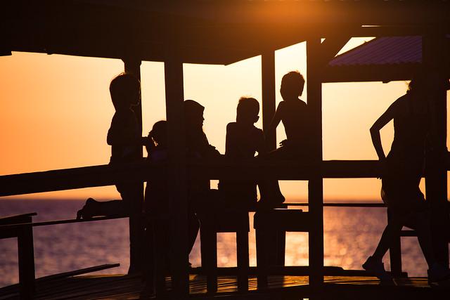 Sunset & Silhouettes On Mantanani Island