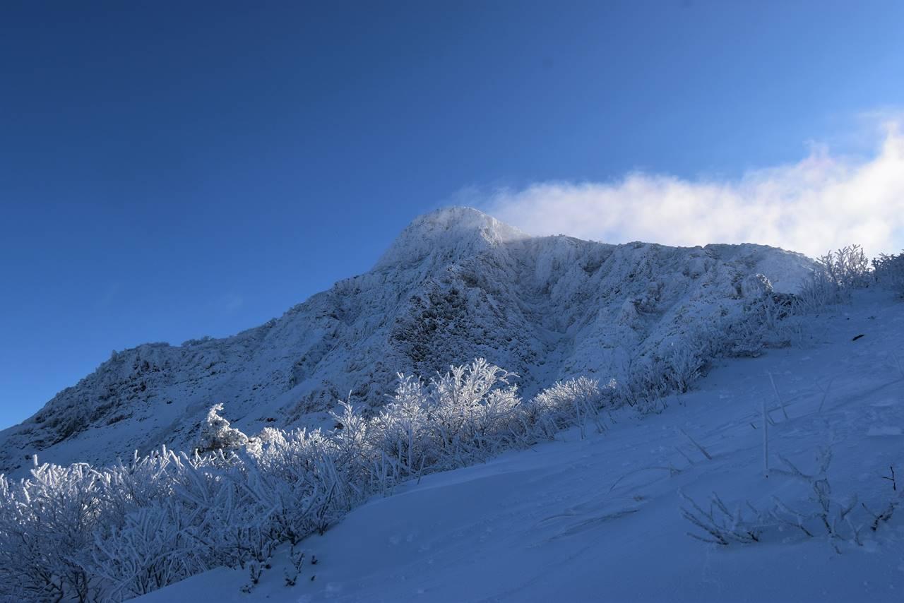 冬の磐梯山・櫛ヶ峰