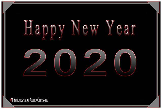 HAPPY NEW YEAR 2020. NEW YORK CITY.