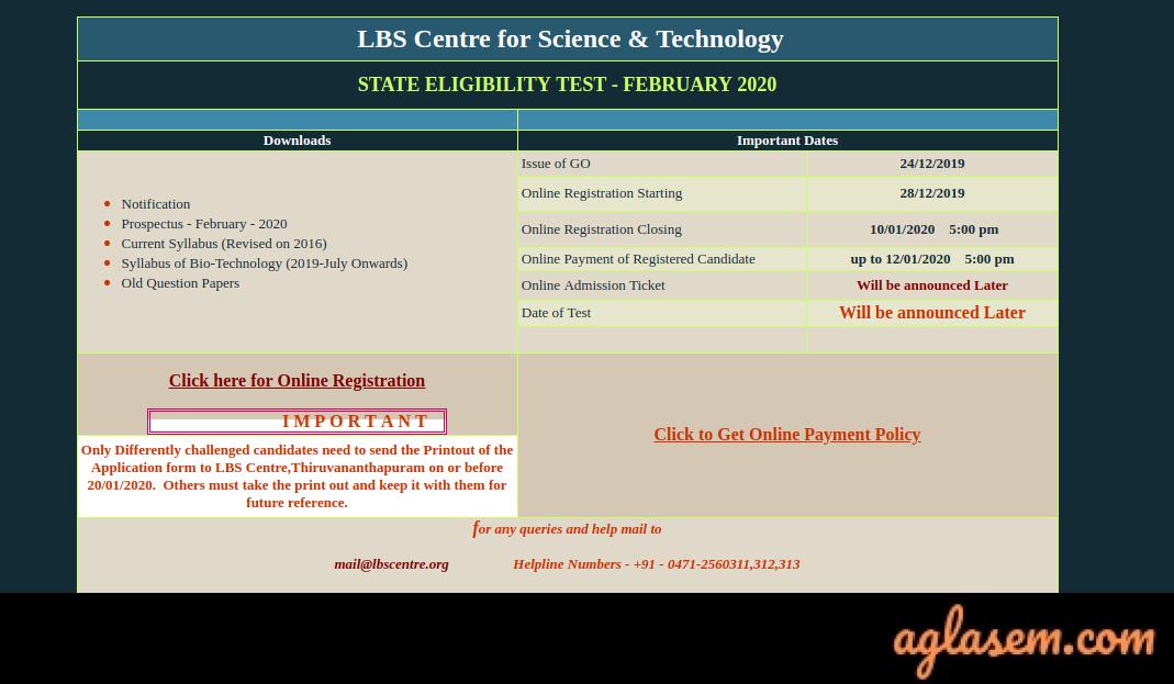 Kerala SET (LBS) Application Form Kerala SET (LBS) Application Form 2020: Process Over