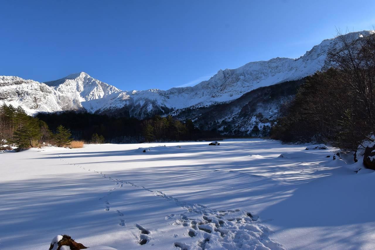 冬の磐梯山・銅沼