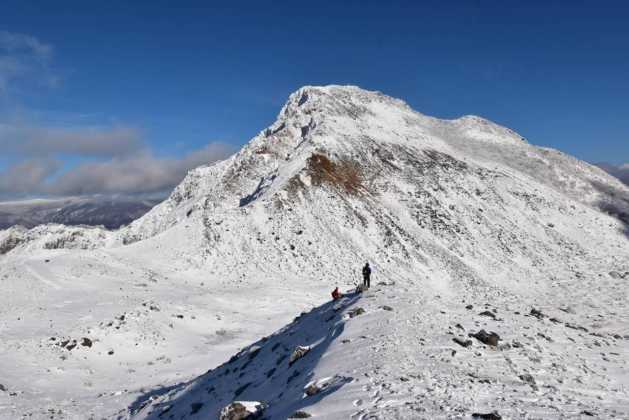 冬の櫛ヶ峰(磐梯山)