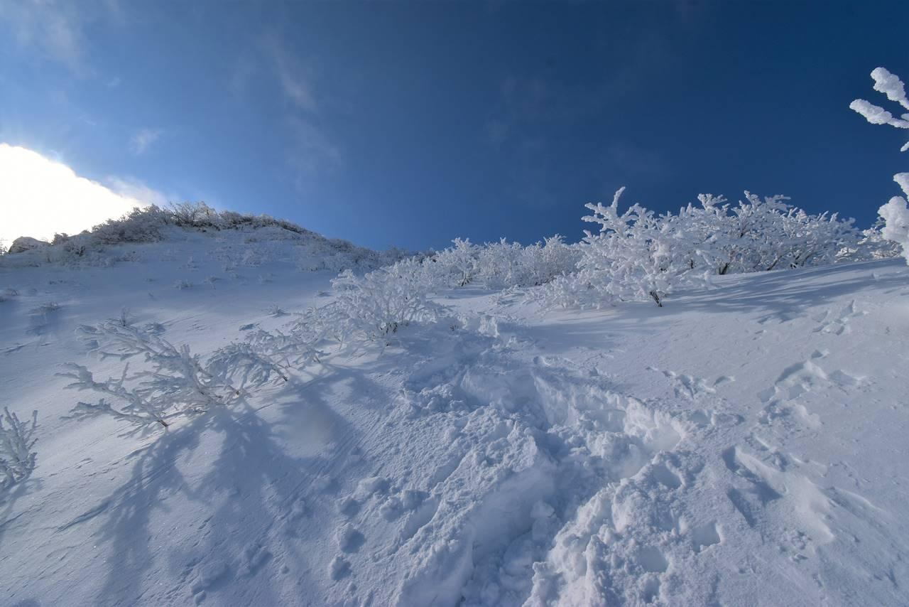 冬の磐梯山 ラッセル雪山登山